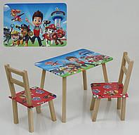 Столик 60*46 см 2 стула Щенячий Патруль