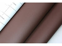 Кожзам самоклеющийся коричневый 90х135 см.