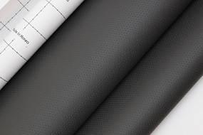 Кожзам самоклеющийся перфорированный темно-серый 90х135 см.