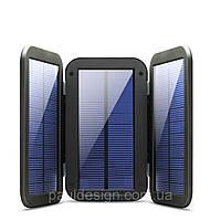 Портативная солнечная батарея с 3-мя раскладными панелями, фото 1