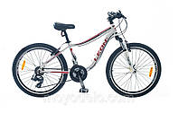 Велосипед спортивный LEON ROBERT (бело-красный)
