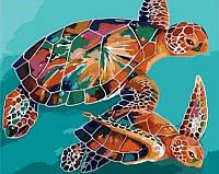 Картина по номерам Черепахи КНО2455