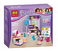 Конструктор Bela серия Friends / Подружки 10553 Творческая мастерская Эммы (аналог Lego Friends 41115)