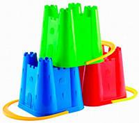 Відерко-вежа, 15см, 3 види, 18міс.+, син (000610-1)