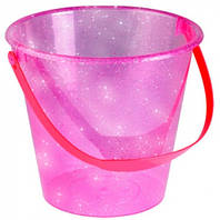 Прозрачное ведерко для игры с песком (розовое), Ecoiffier, роз (000599-1)
