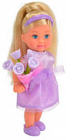 Кукла Эви Подружка невесты в фиолетовом с цветами, Steffi & Evi Love, фиол (573 2336-2)