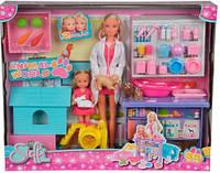 Кукольный набор Штеффи и Эви, Ветеринарная клиника с животными, Steffi & Evi Love (573 3040)