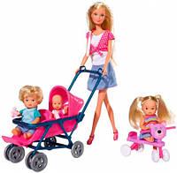 Набор кукол и аксессуаров Штеффи с детьми, Steffi & Evi Love (573 6350)