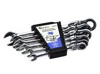 Набор ключей комбинированных шарнирно-трещоточных 6ед. Geko G10339