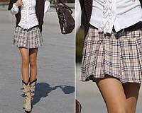 Короткая юбка шотландка в клетку. На заказ любые размеры
