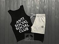 Комплект мужской шорты и майка Anti Social Social Club
