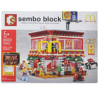 Конструктор Sembo Block SD6901 McDonald's 4в1