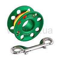 APEKS Шпуля с карабином и линем 30мм (зеленая)