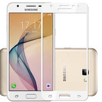 Защитное стекло для Samsung Galaxy J3 J300 / J3 2016 J320 цветное Full Screen