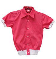 Рубашка для мальчика на манжетах. Удобная и стильная