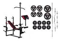 Набор 84 кг со скамьей с тягой и партой Strong HS