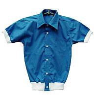 Оригинальная и удобная рубашка для мальчика в школу на резинке.