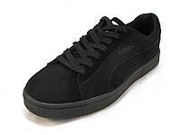 Кроссовки мужские  Puma Suede замшевые черные (пума) (р.41,42,44)