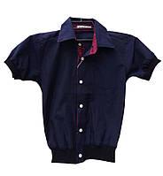 Школьная рубашка для мальчика. На манжете, очень удобная.