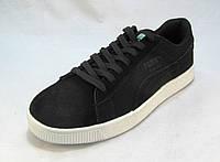 Кроссовки мужские  Puma Suede замшевые черные (пума) (р.43,44)