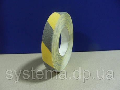 Антискользящая, самоклеющаяся лента, черно-желтая, 25 мм х 18 м (Бельгия), фото 2