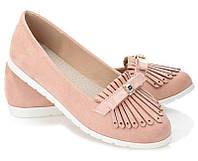 Женские балетки розового цвета от производителя с Польши