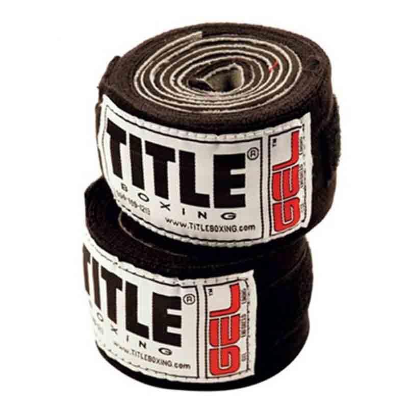 Гель-бинты TITLE Boxing Iron Fist Wraps 3м Черные