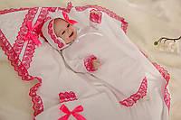 Комплект для крещения ребенка Малиновый