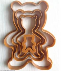Мишка Тедди  набор вырубок из 4-х шт