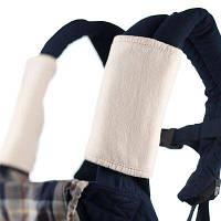 Накладки для сосания на лямки к рюкзака белые на кнопках