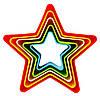 Звезда набор выемок для печенья, для мастики из 5 шт.