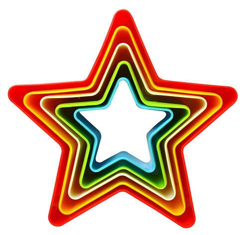 Звезда набор выемок для печенья, для мастики из 5 шт., фото 2