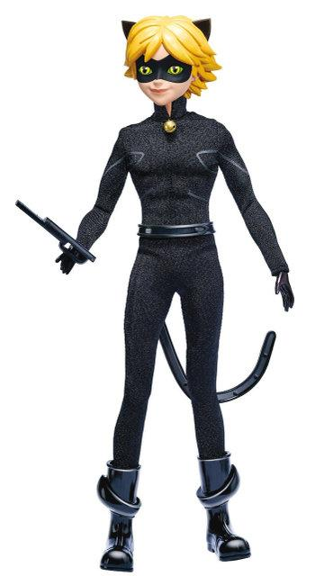 Кукла Супер Кот базовая шарнирная / Miraculous Cat Noir Fashion Doll