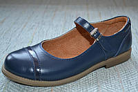 Синие туфли с застежкой 11 shoes размер 31 34 35 36