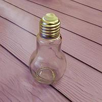 """Небольшая стеклянная баночка """"Лампочка"""", 110мм"""