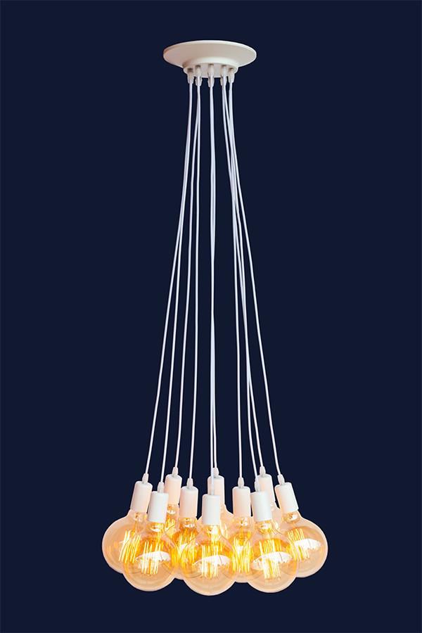 Люстра-паук в стиле LOFT на 5 ламп L527120-5 WH
