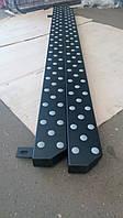 Боковые подножки на Volkswagen T5 Бмв стиль черный мат