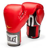 Боксерские перчатки тренировочные Everlast PU Pro Style training gloves Красный