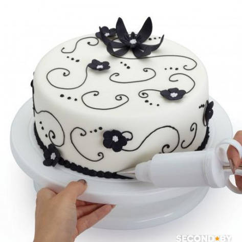 Подставка для торта вращающаяся 28 см, фото 2