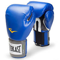 Боксерские перчатки тренировочные Everlast PU Pro Style training gloves Синий