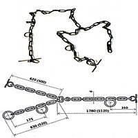 ✅ Цепь сварная трехконцевая для привязки крупного рогатого скота Ø 4 мм
