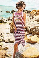 Модное платье-майка свободного кроя