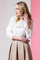 Стильная блуза украшенная воланами