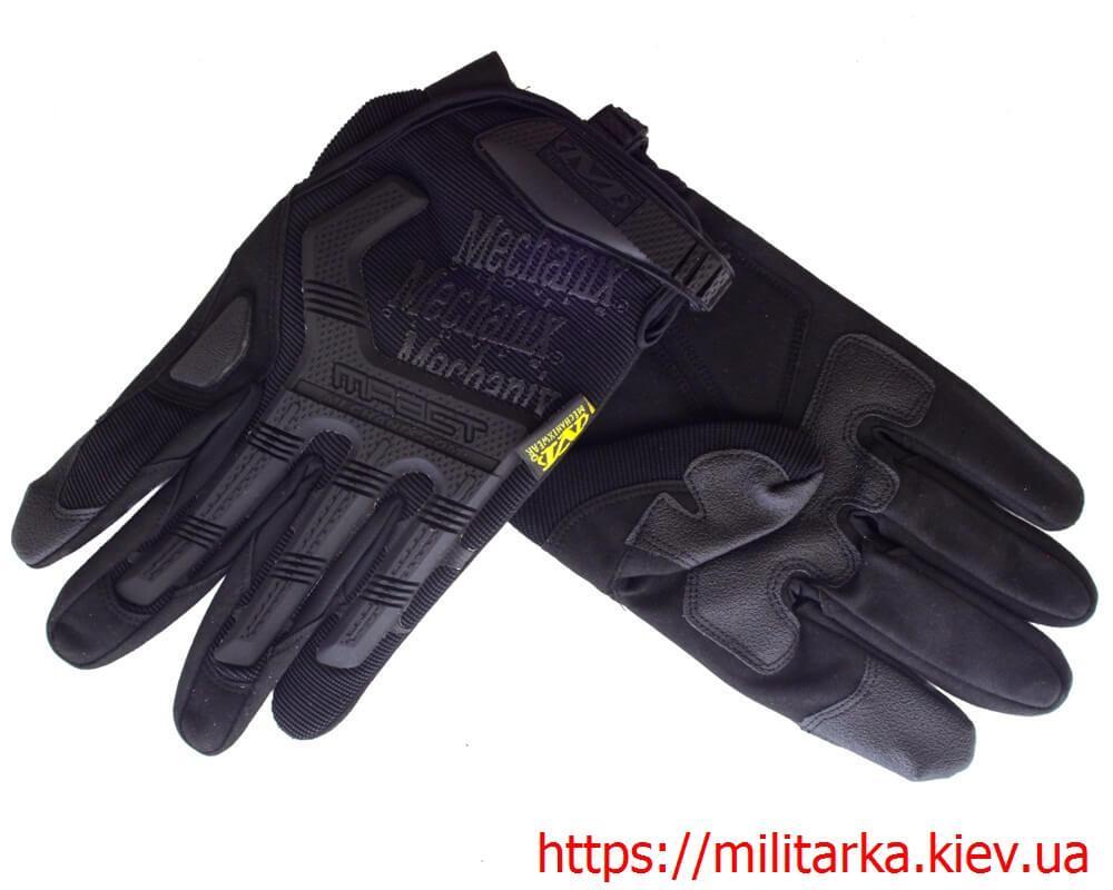 Тактические перчатки MECHANIX Mpact Pro полнопалые black