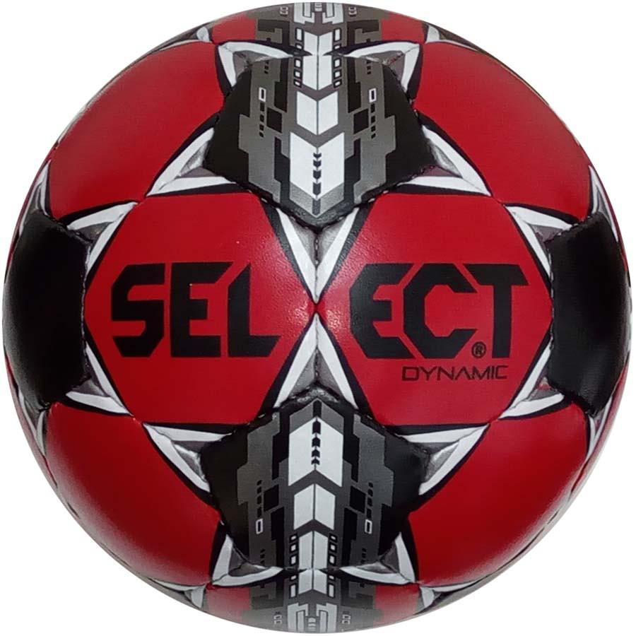 Мяч футбольный Select Dynamic, черно-красный, р.5, не ламинированный