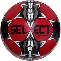 Мяч футбольный Select Dynamic, черно-красный, р.5, не ламинированный, фото 1