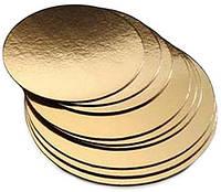 Подложка под торт  21 см Золото/серебро