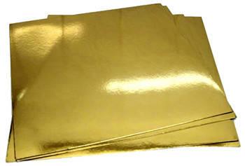 Подложка кондитерская 30х30 см Золото/серебро, фото 2