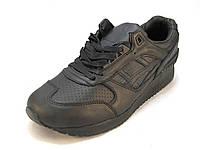 Кроссовки мужские Asics Gel кожаные черные (асикс)(р.41,42,43,44,45)