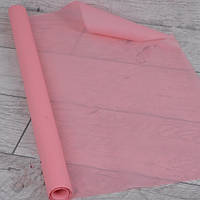 Бумага тишью в рулоне для упаковки, нежно - розовая